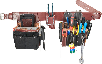 Occidental Leather 5590- Commercial Electrician's Tool Bag Set